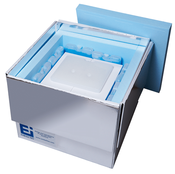 Isothermal packaging Standard Export opened