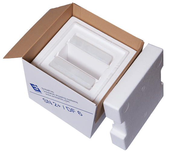 Isothermal packaging Standard National + opened