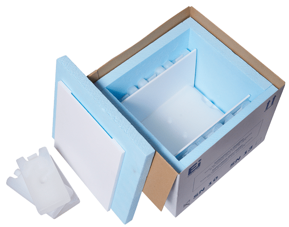Isothermal packaging Standard National opened