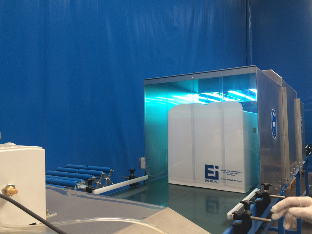 Tunnel UV Pour Le Nettoyage Des Produits Emballiso France X Ray Tunnel For Cleaning Emballiso France